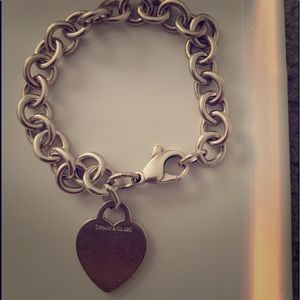 Authentic Tiffany & Co heart bracelet